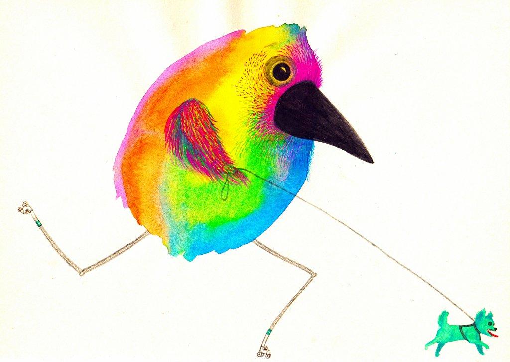 BIRD & CHIHUAHUA