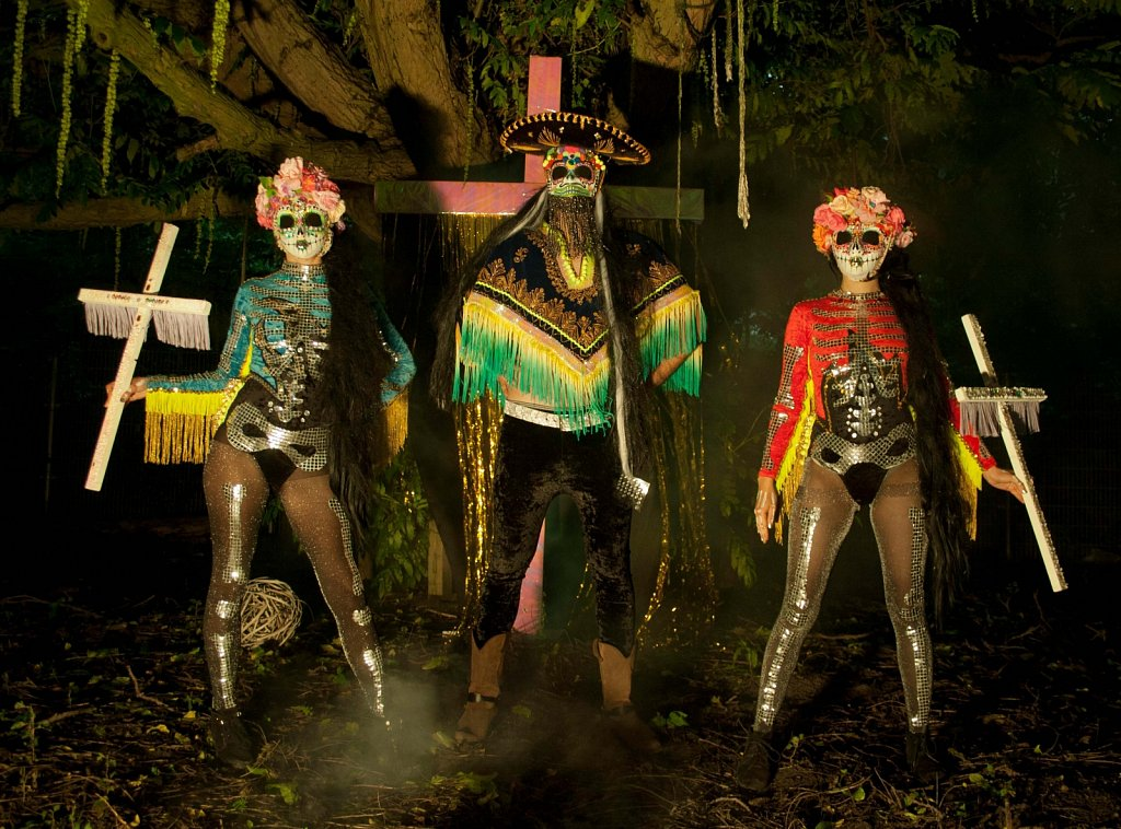 COSTUMES & PROPS FOR THE LEGENDARY BAND 'FLAMING CACTUS'